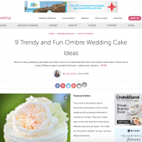 9 Trendy and Fun Ombre Wedding Cake Ideas